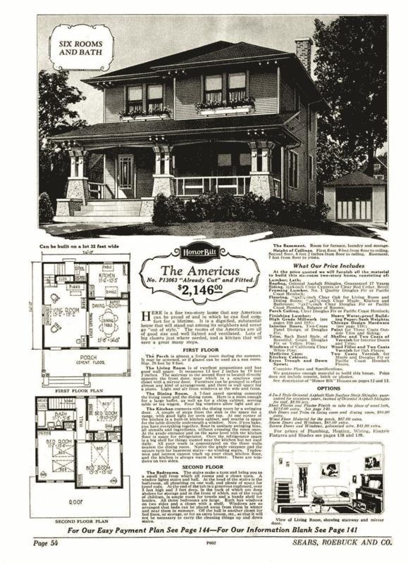 Sears Catalogue, Americus Style, 1928